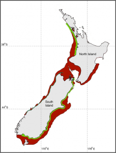 Hector's & Maui Dolphin Distribution vs Protection Map Sep 2011